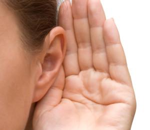 listen-hand to ear
