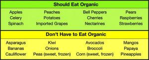 food chart organic600x244